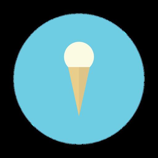 Ice, Cream, Cone, Dessert, Vanilla Icon