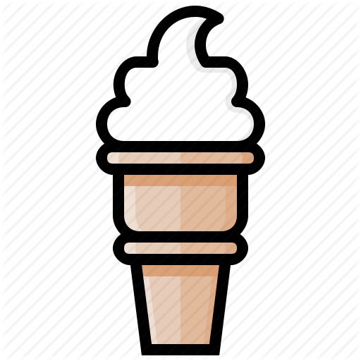 Cone, Cream, Ice, Ice Cream, Sweet, Swirl, Vanilla Icon