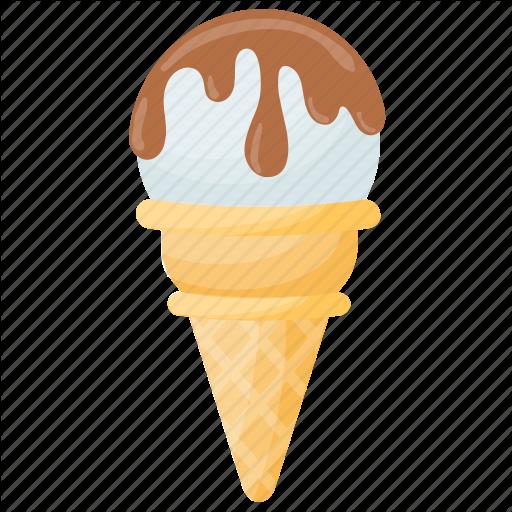 Dessert, Gelato, Ice Cream, Vanilla Cone, Vanilla Ice Cream Icon