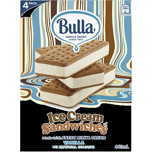 Bulla Ice Cream Sandwiches Vanilla Pack