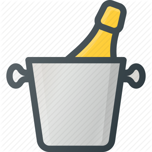 Bucket, Champagne, Cold, Drink, Ice Icon