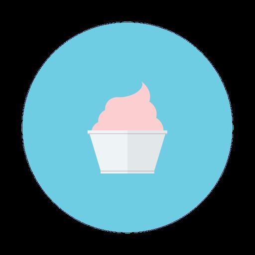 Cream, Ice, Strawberry Icon