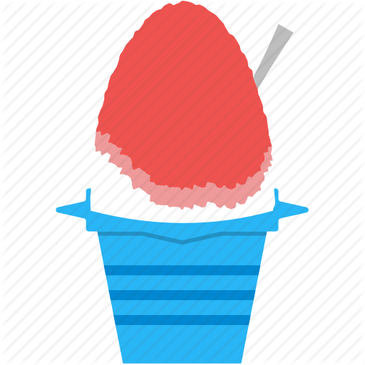 Dessert, Frozen, Ice, Shaved Ice, Snack, Summer, Syrups Icon