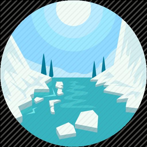 Glacier, Ice Calving, Ice Mountain, Polar Regions, Sublimation Icon