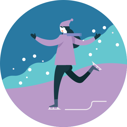 Activity, Ice, Skating, Seasonal, Snowfall, Winter Icon Free