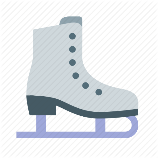 Ice, Skate, Snowflake Icon