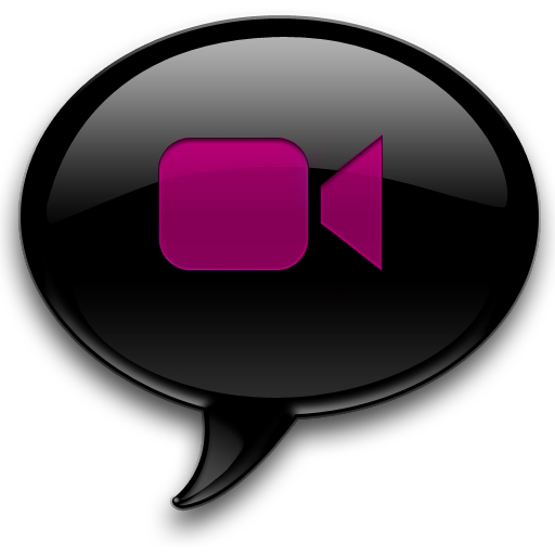 Pink And Black Ichat Icon