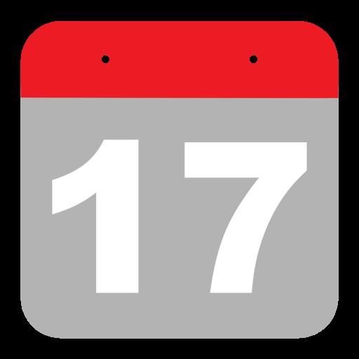 Calendar, Event, Hovytech, One, Schedule, Seven, Seventeen Icon
