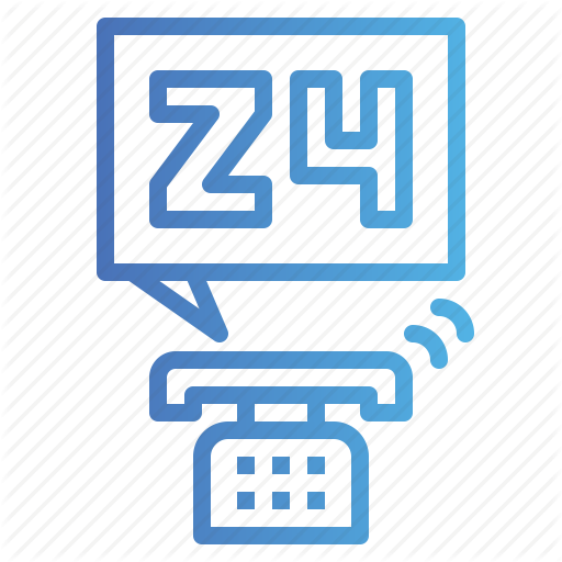 Call, Customer, Hours, Phone, Service Icon