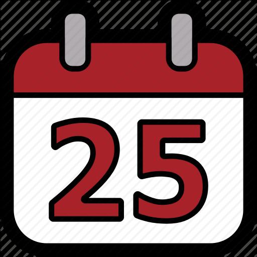 Calendar, Christmas, Christmas Day, Day, December, December Icon
