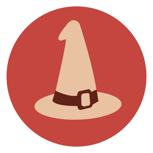 Witch Hat Circle Icon