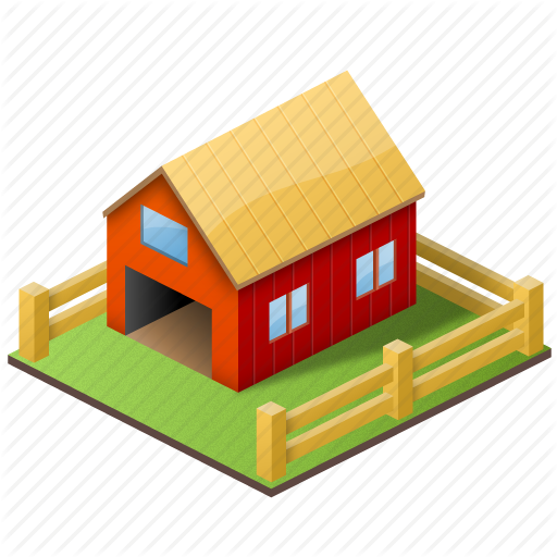 Farm, Home, House, Organic, Produce, School, Teacher, Village Icon