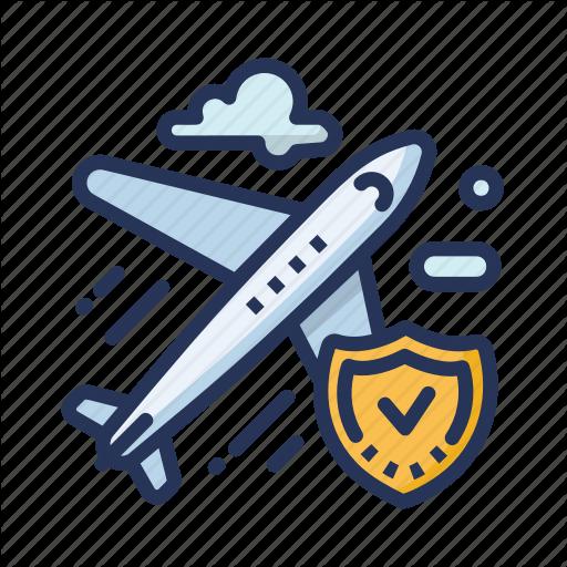 Plane, Plane Clouds, Secure Plane, Travel Icon