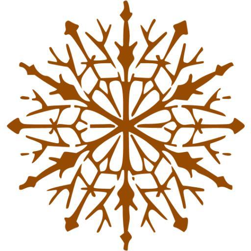 Brown Snowflake Icon