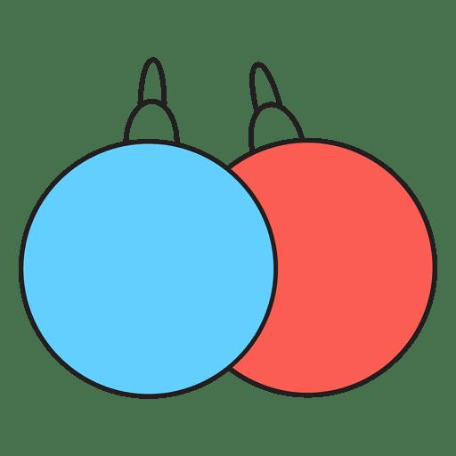 Christmas Balls Cartoon Icon