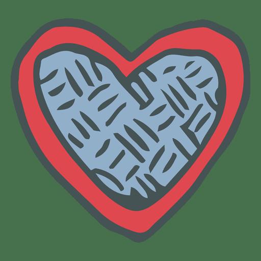 Heart Hand Drawn Cartoon Icon