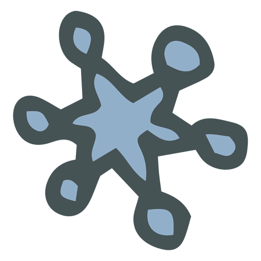 Snowflake Hand Drawn Cartoon Icon