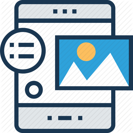App Layout, Content Design, Design, Smartphone, Web Layout Icon