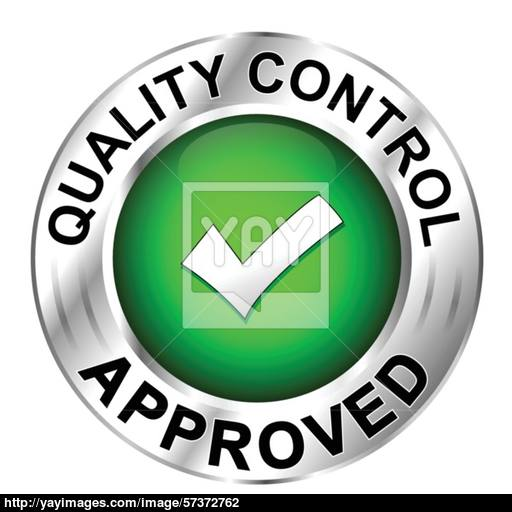 Icon Quality Control Approved Vector