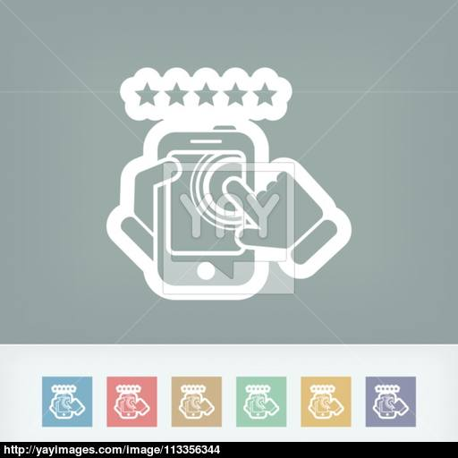 Smartphone Icon Top Rated Vector