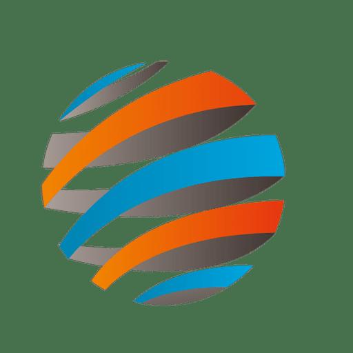 Colorful Stripes Orbit Icon