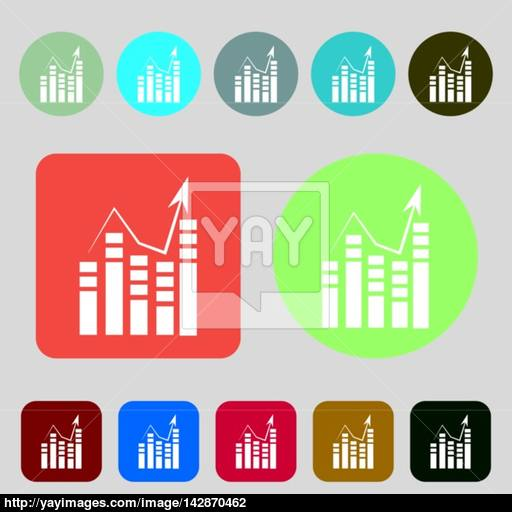 Text Icon Add Document With Chart Sign Accounting Symbol