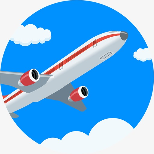 Aircraft Round Icon, Aircraft, Aviation, Blue Sky Png Image
