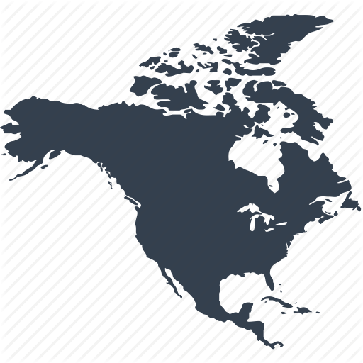 America, Continent, Geography, Location, Map, North, World Icon