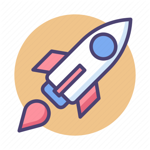 Launch, Rocket, Rocket Launch, Startup, Startup Rocket Icon