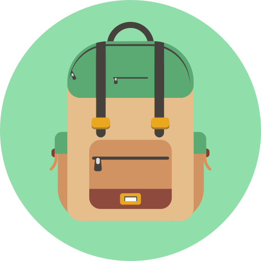 Backpack, Organized Backpack, School Backpack, School Bag Icon