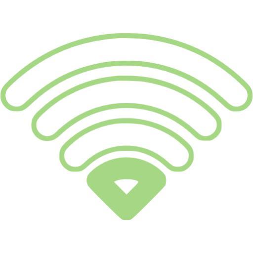 Guacamole Green Wifi Bar Icon