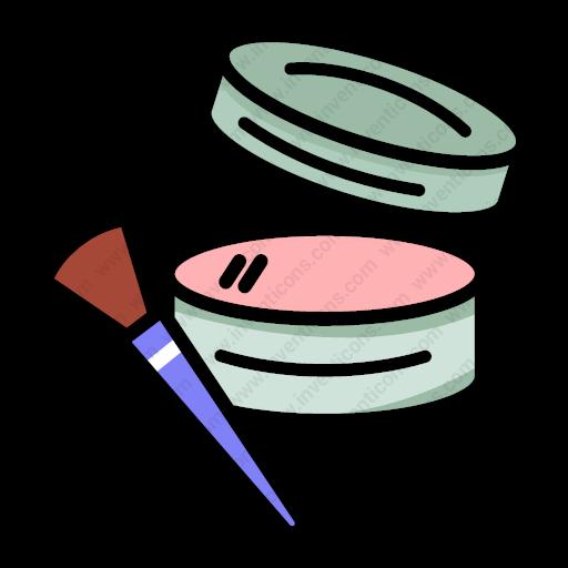 Download Blusher,blush,blusher,brush,makeup,powder,cosmetics Icon