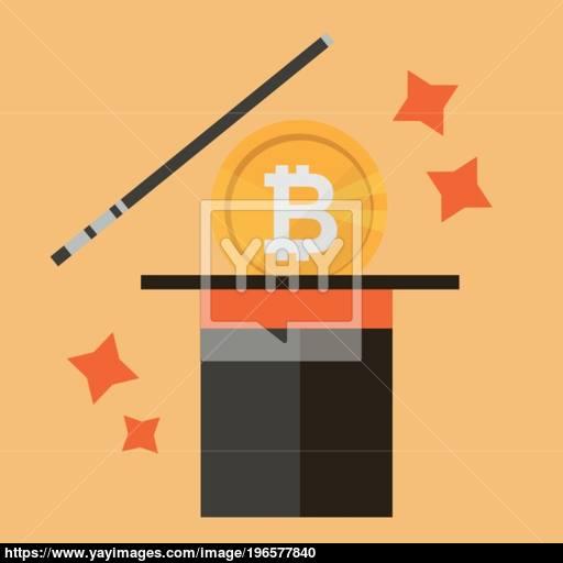 Bitcon Concept Of Money And Magic Vector Illustration