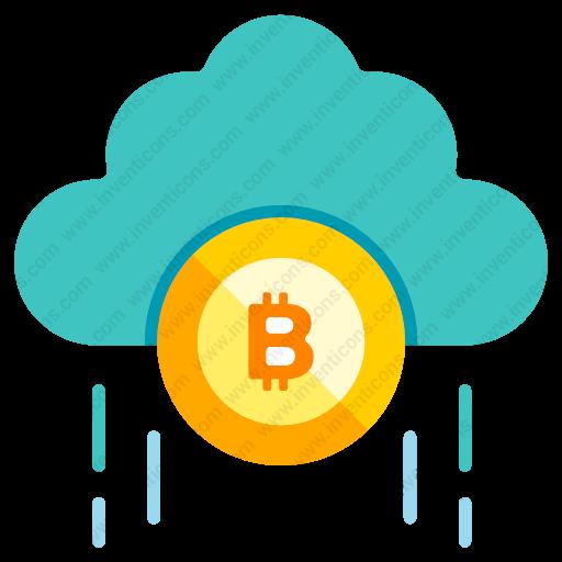 Download Bitcoin,cloud,storage Icon Inventicons