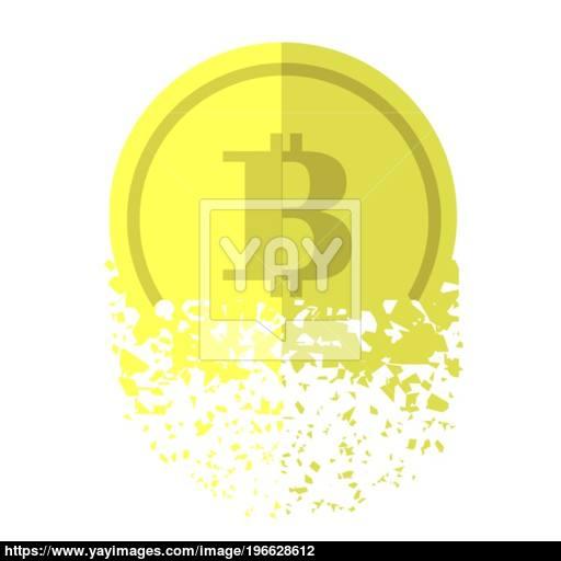 Gold Bitcon Vector