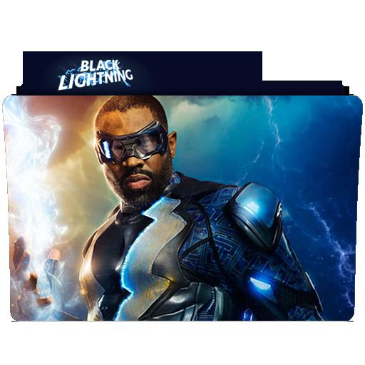 Black Lightning Folder Icon