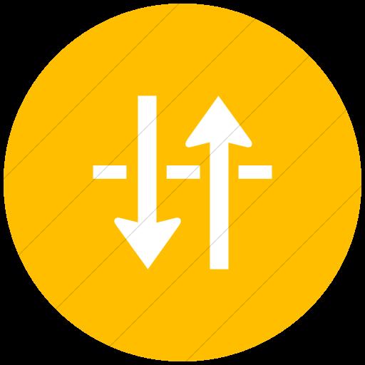 Flat Circle White On Yellow Ocha Humanitarians Physical