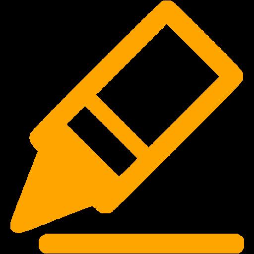 Orange Border Color Icon