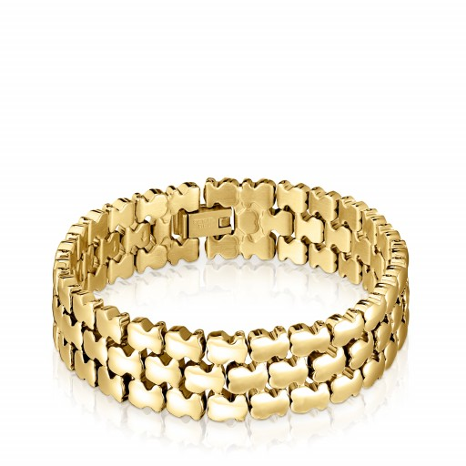 Gold Colored Ip Steel Parade Bracelet Tous