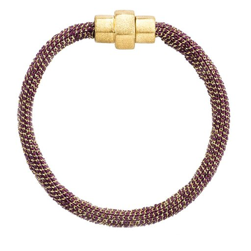 Groove Bracelet In Yellow Gold