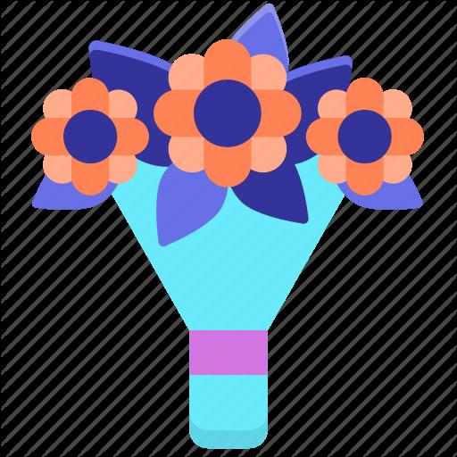 Bouquet, Bridal, Flower, Flower Bouquet Icon