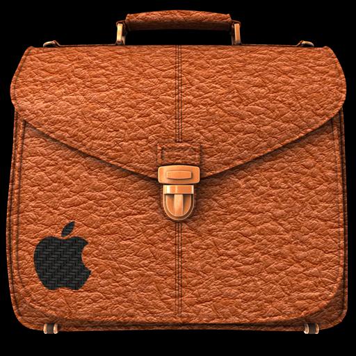 Briefcase Folder Rufous Icon