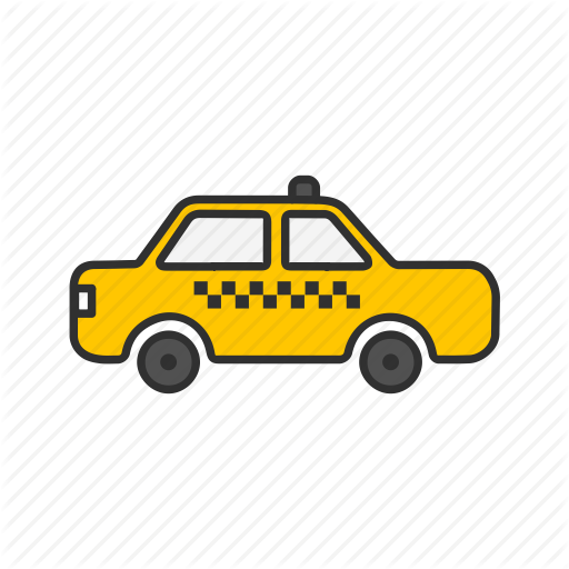 Cab, Taxi, Transportation, Yellow Cab Icon