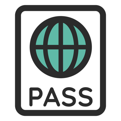 Passport Colored Stroke Icon