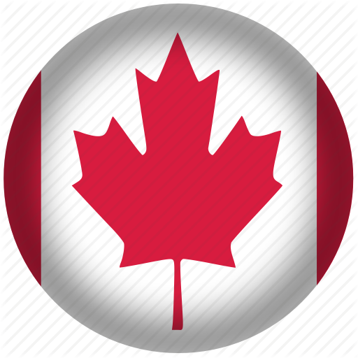 Canada Flag, Circle, Flag, National Icon