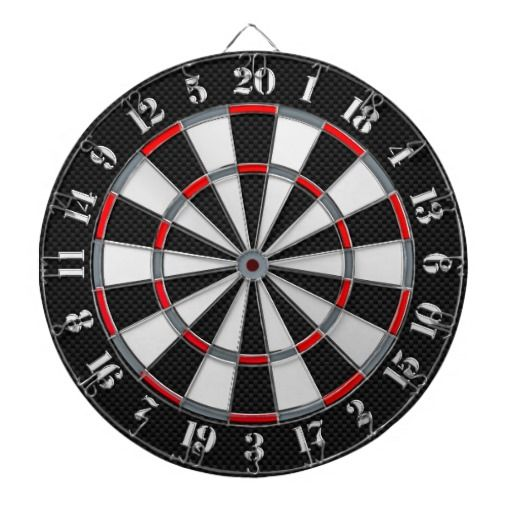 A Classic Game Of Darts Chrome Carbon Fiber Styles Dartboard