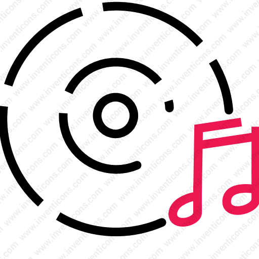 Download Play,music,music Cd,disc,cd Icon Inventicons