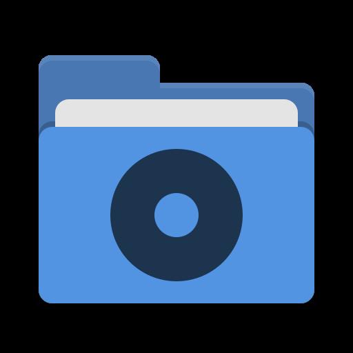 Folder Blue Cd Icon Papirus Places Iconset Papirus Development