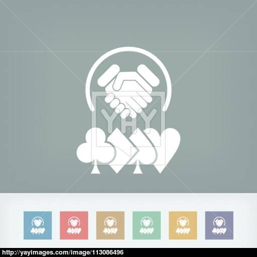 Poker Challenge Icon Vector