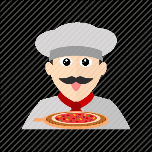 Chef, Cook, Italian, Kitchen, Pizza, Restaurant Icon